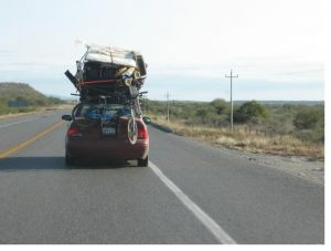 car loaded with luggage